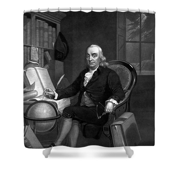Benjamin Franklin -- The Scientist Shower Curtain