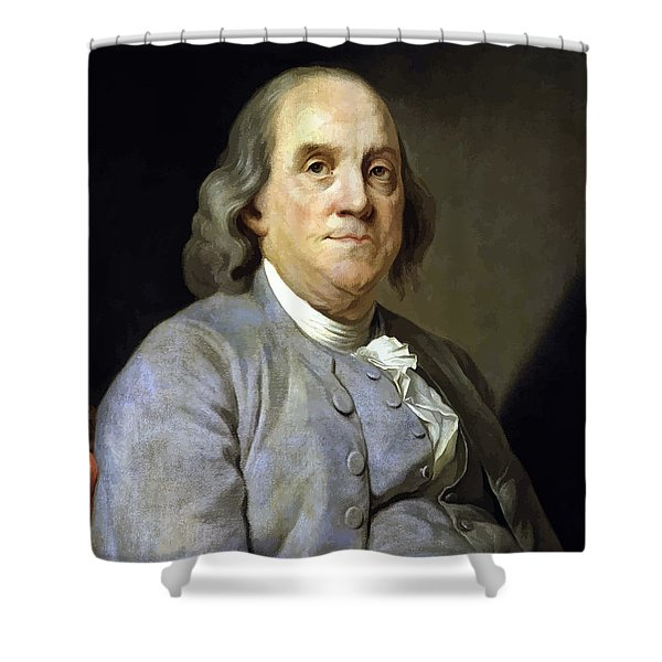 Benjamin Franklin Painting Shower Curtain