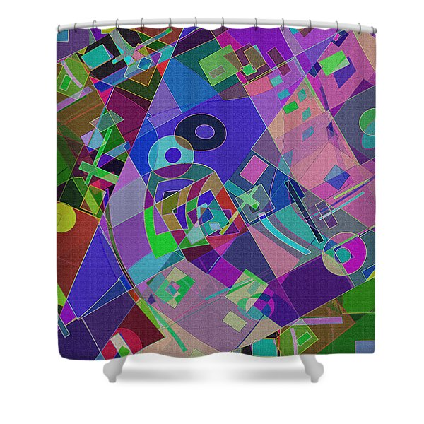 Bent Shapes 14 Shower Curtain