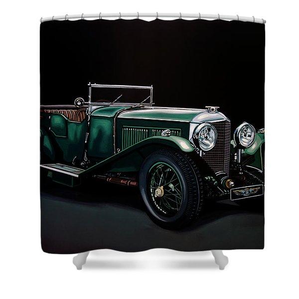Bentley Open Tourer 1929 Painting Shower Curtain