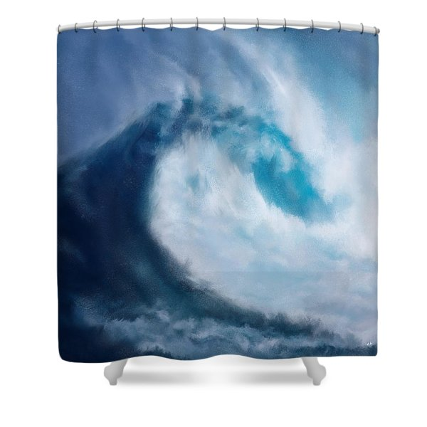 Shower Curtain featuring the digital art Bering Sea by Mark Taylor