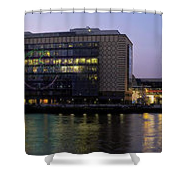 Shower Curtain featuring the photograph Berlin 360 Grad  by Juergen Held