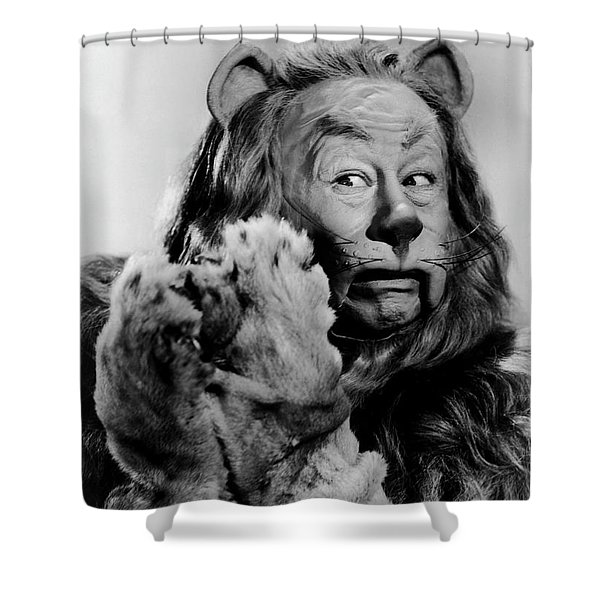 Cowardly Lion In The Wizard Of Oz Shower Curtain