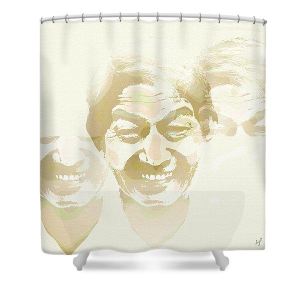 Beside Himself Shower Curtain