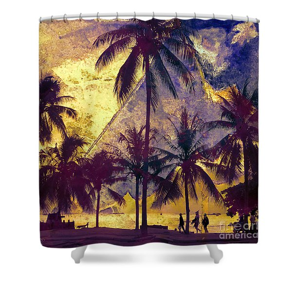 Beside The Sea Shower Curtain