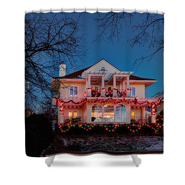 Best Christmas Lights Lake Of The Isles Minneapolis Shower Curtain
