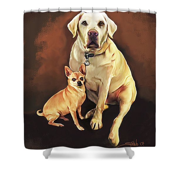 Best Friends By Spano Shower Curtain