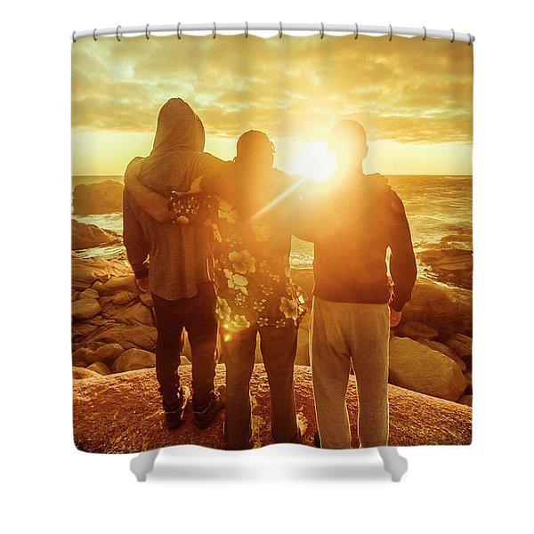 Best Friends Greeting The Sun Shower Curtain
