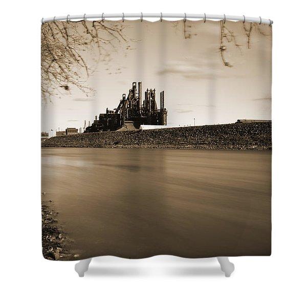 Bethlehem Steel Along The Lehigh Shower Curtain