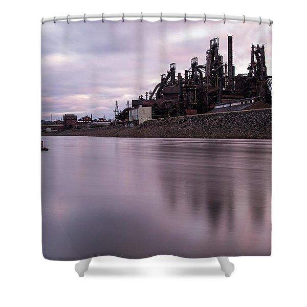 Bethlehem Steel Sunset Shower Curtain