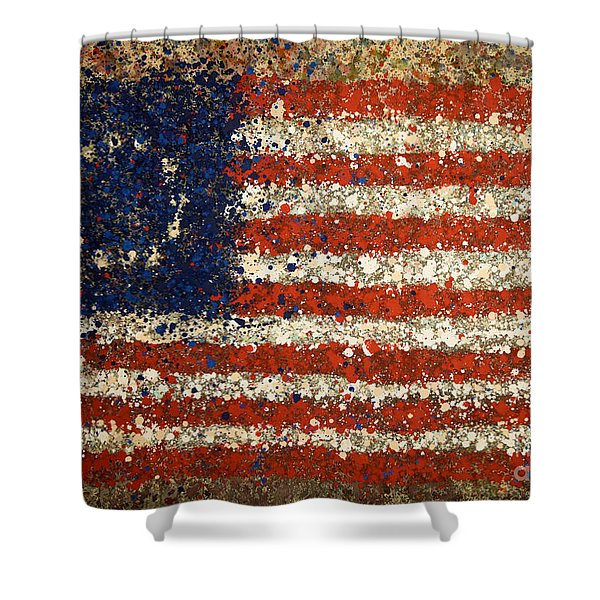 Betsy Ross Flag Number One Shower Curtain