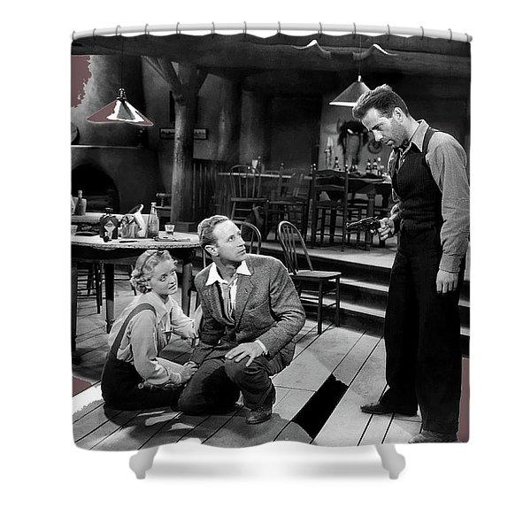 Bette Davis As Gabby Leslie Howard Humphrey Bogart  #2 Petrified Forest 1936-2016 Shower Curtain