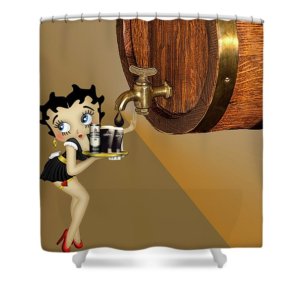 Betty Boop Serving Murphys Shower Curtain