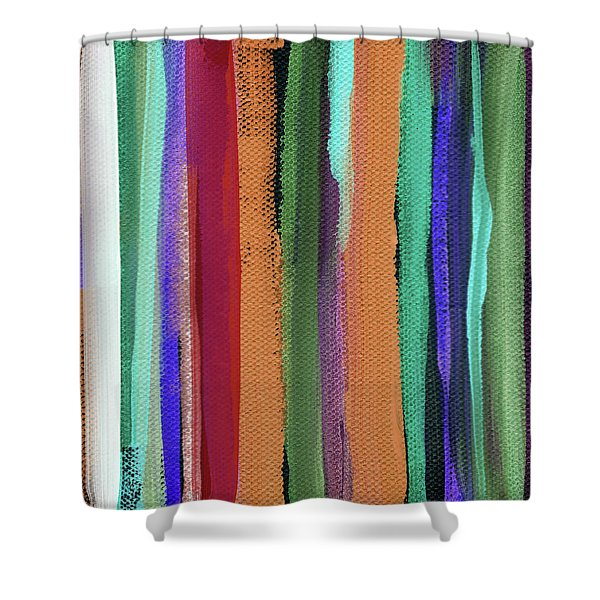 Between Seasons- Art By Linda Woods Shower Curtain