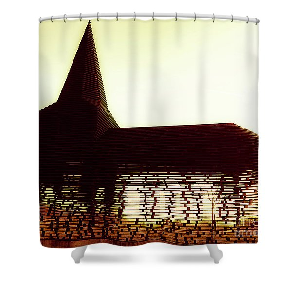 Between The Lines Shower Curtain