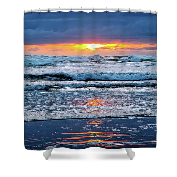 Between The Sky And The Waters Shower Curtain