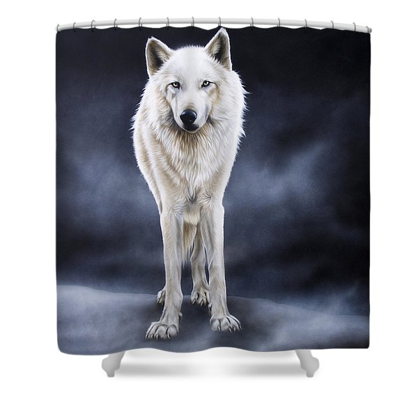 'between The White And The Black' Shower Curtain