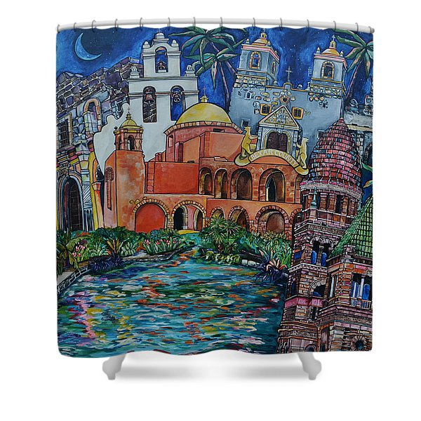 Bexar County Missions Shower Curtain