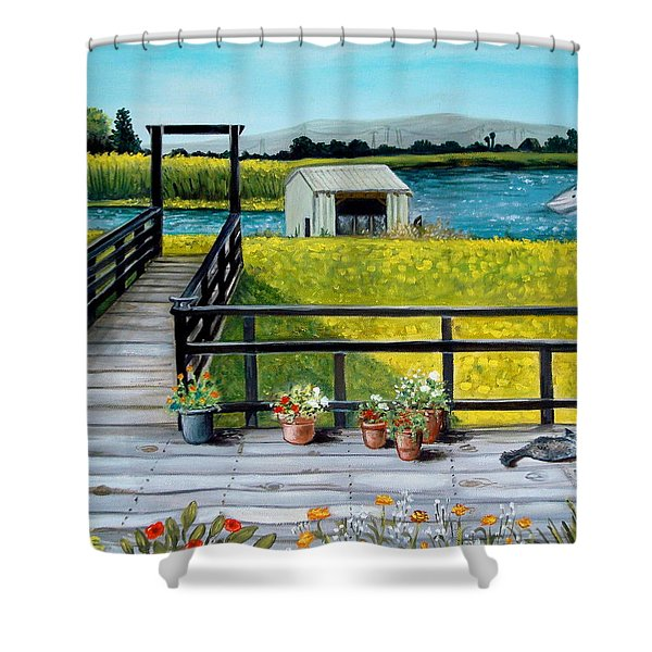 Beyond The Levee Shower Curtain