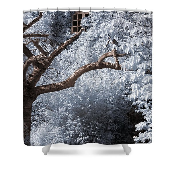 Beyond The Silver Tunnel Shower Curtain