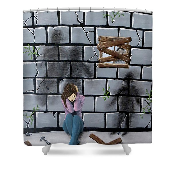 Beyond The Wall Shower Curtain