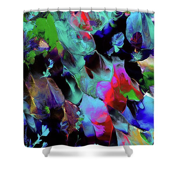 Beyond The Webbed Galaxy Shower Curtain
