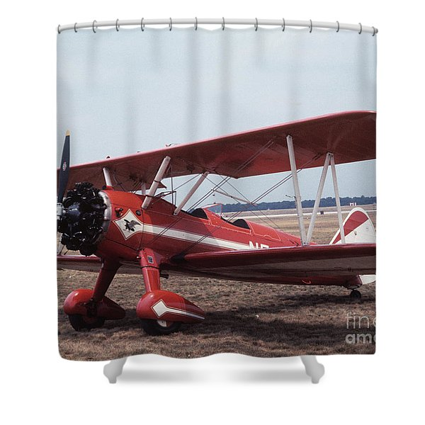 Bi-wing-1 Shower Curtain