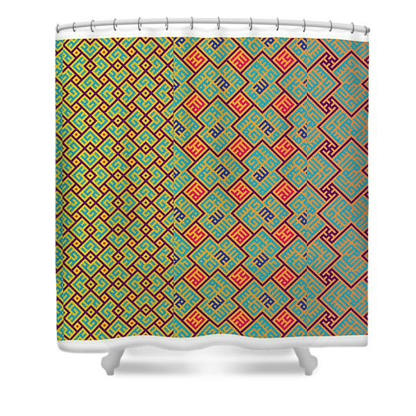 Bibi Khanum Ds Patterns No.8 Shower Curtain
