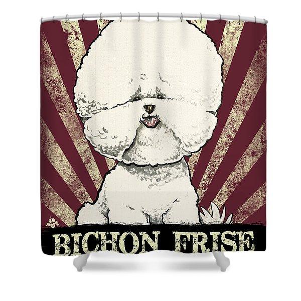 Bichon Frise Revolution Shower Curtain