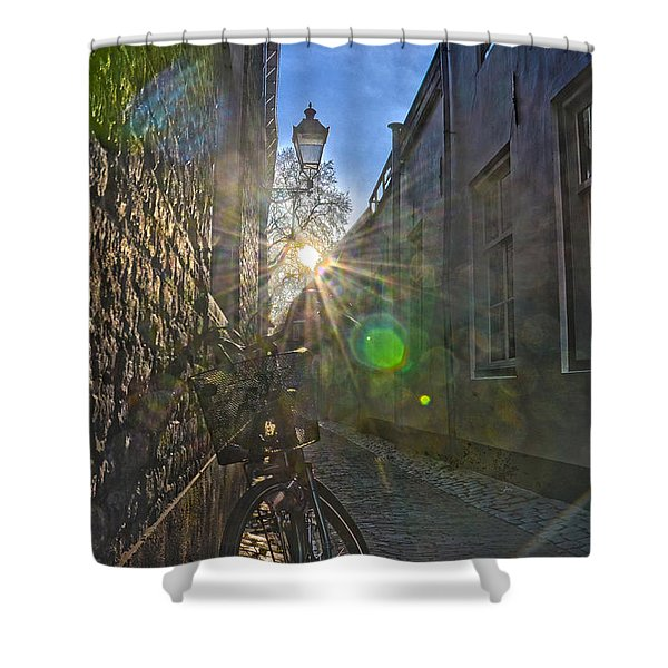 Bicycle Alley Shower Curtain