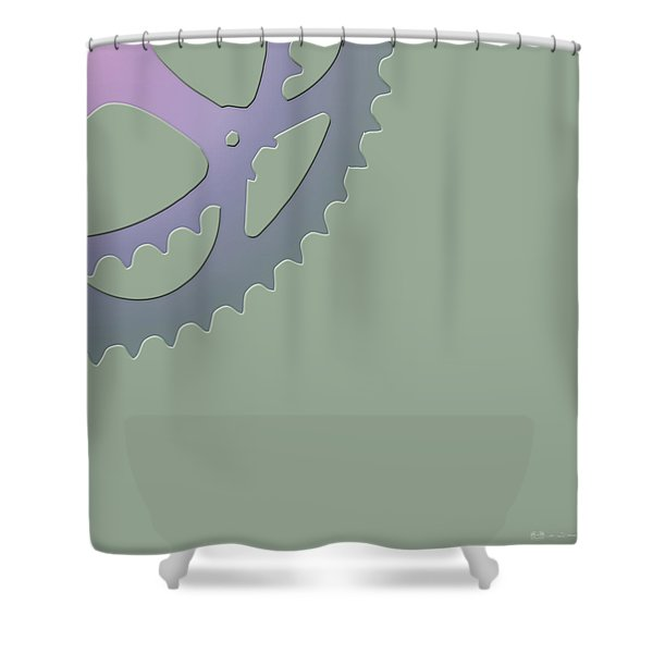 Bicycle Chain Ring - 4 Of 4 Shower Curtain