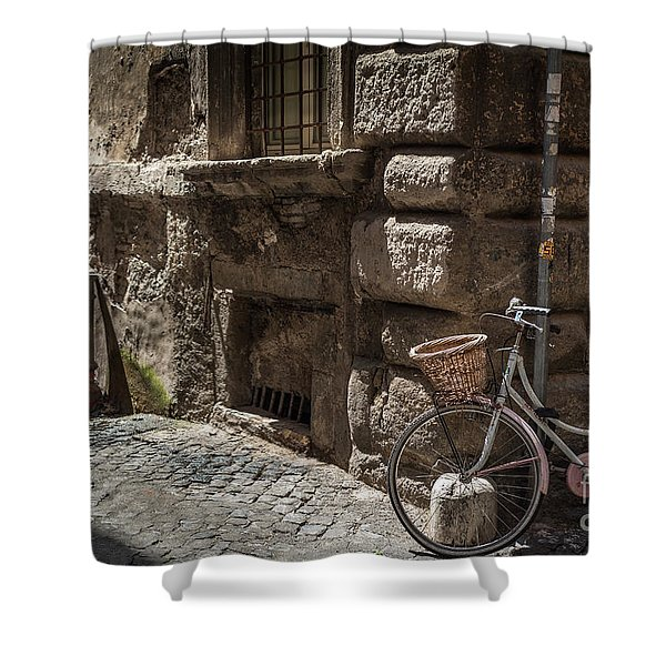Bicycle In Rome, Italy Shower Curtain