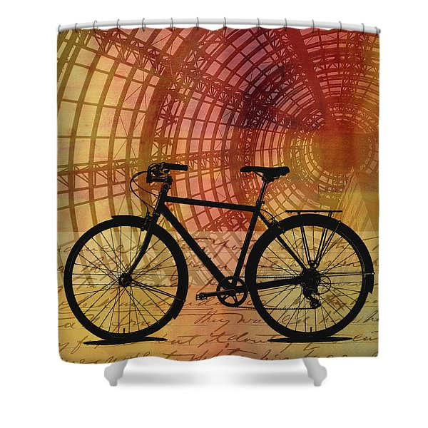 Bicycle Life Shower Curtain
