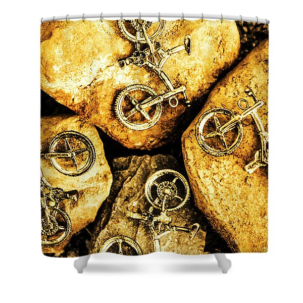 Bicycle Obstacle Course Shower Curtain