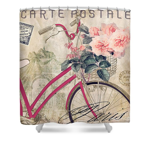 Bicycling In Paris II Shower Curtain
