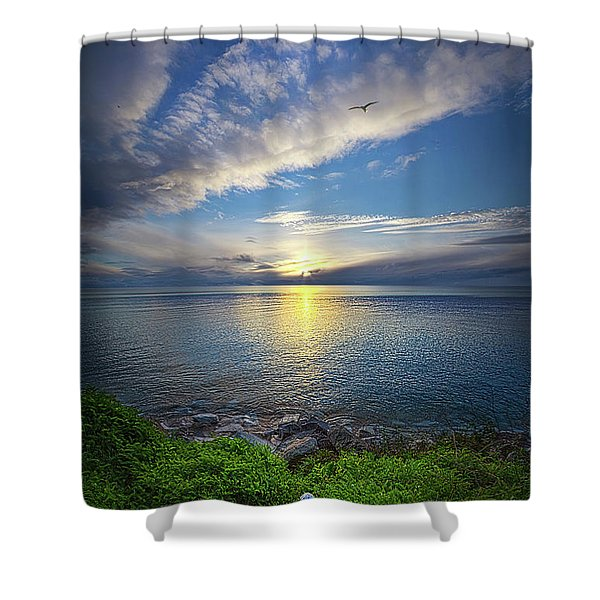 Biding Time Shower Curtain