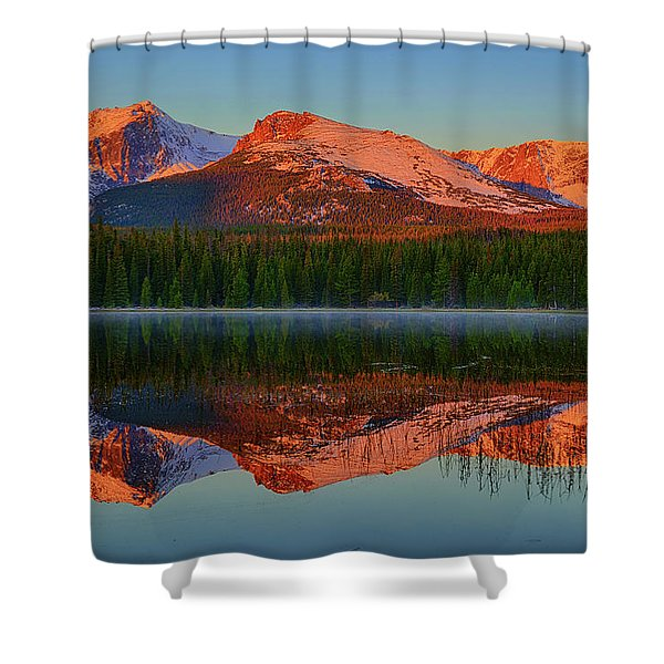 Bierstadt Alpenglow Shower Curtain
