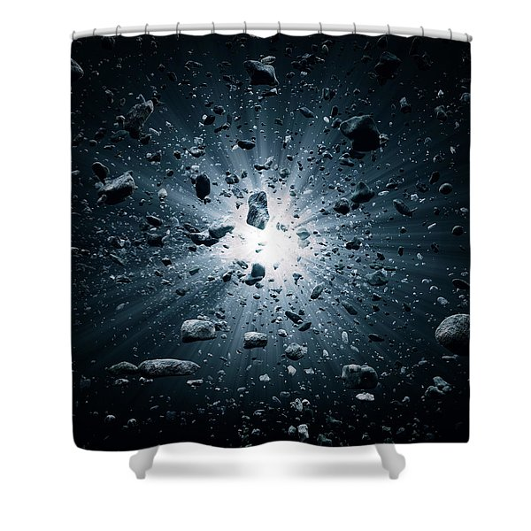 Big Bang Explosion In Space Shower Curtain