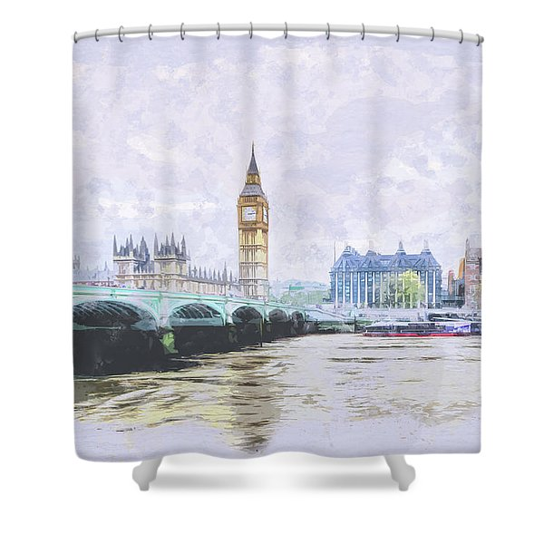 Big Ben And Westminster Bridge London England Shower Curtain