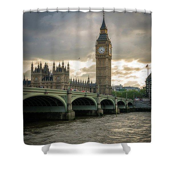 Big Ben At Sunset Shower Curtain