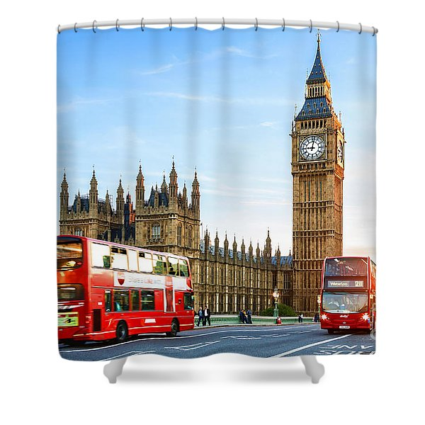 Big Ben In The Evening Shower Curtain