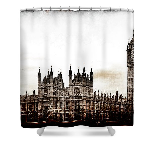 Big Bend And The Palace Of Westminster Shower Curtain