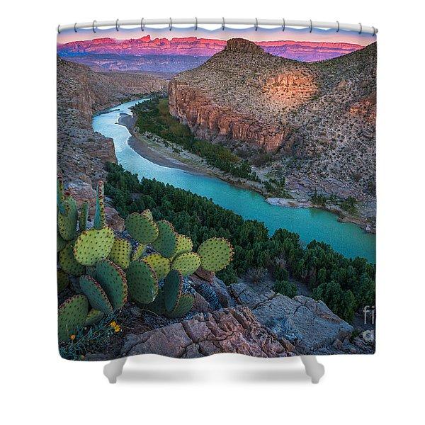 Big Bend Evening Shower Curtain