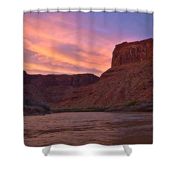 Big Bend, Utah Shower Curtain