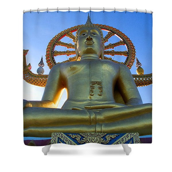 Big Buddha At Koh Samui Shower Curtain
