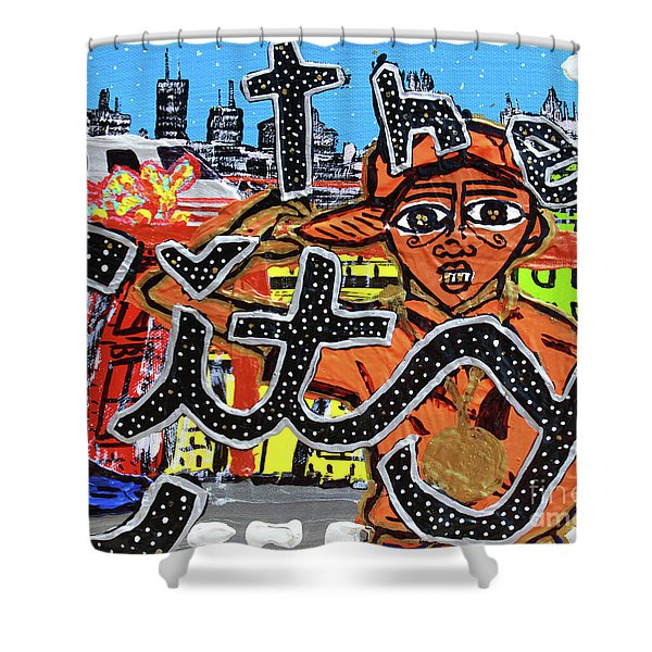 Big Cities Shower Curtain