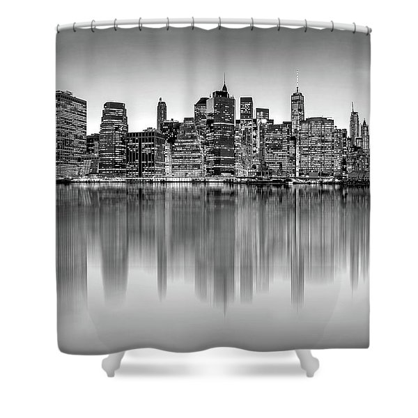 Big City Reflections Shower Curtain