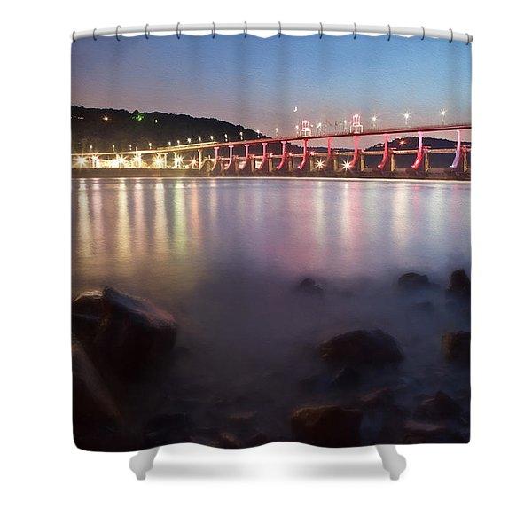 Big Dam Bridge Shower Curtain