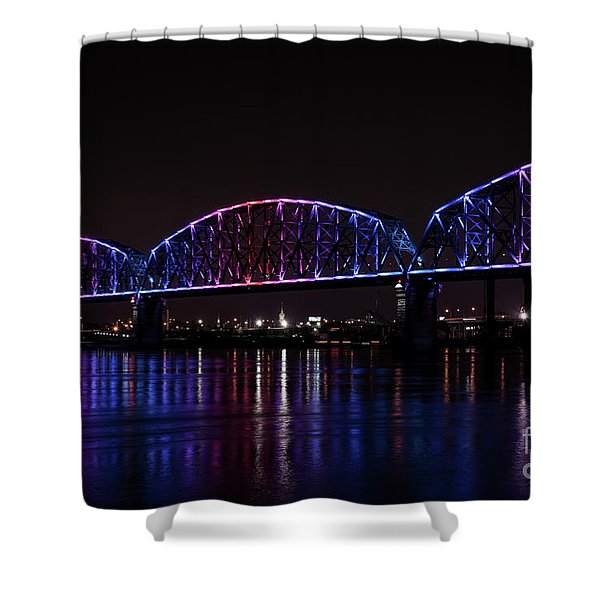 Shower Curtain featuring the photograph Big Four Bridge 2217 by Andrea Silies