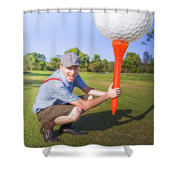 Big Golf Shower Curtain